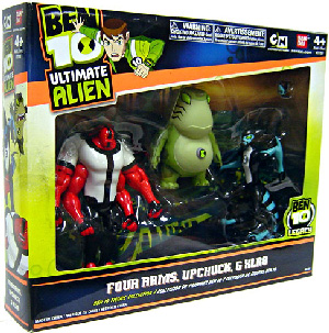 Ben 10 Ultimate Alien - 3-Pack Collection - Four Arms, Upchuck, XLR8
