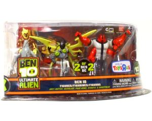 Ben 10 Ultimate Alien 5 Pack - Grey Matter, Heatblast, Four Arms, Stinkfly, Ghostfreak - Set 2 of 2
