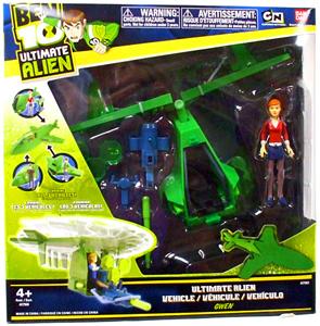 Ben 10 Ultimate Alien Vehicle - Vortex Helicopter with Gwen