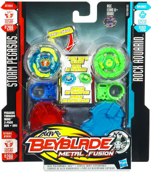 Beyblades Metal Fusion Battle Top - Storm Pegasus and Rock Aquario