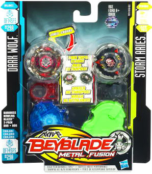 Beyblades Metal Fusion Battle Top - Dark Wolf and Storm Aries