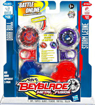 Beyblades Metal Fusion Battle Top - Dark Bull and Storm Leone