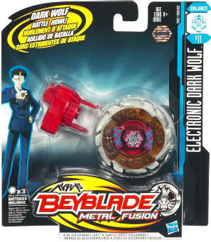 Beyblades Metal Fusion Electronic Attack Top - Dark Wolf