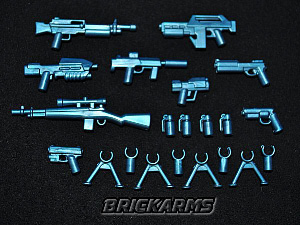 BrickArms - Cobalt Metallic Blue Weapons Pack[21PCS]