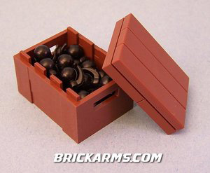 BrickArms - Boom Box 25 Grenades with Crate Weapons Pack[25PCS]
