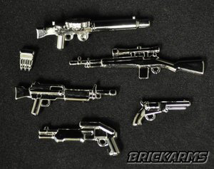 BrickArms - Chrome Modern Weapons Pack[6PCS]