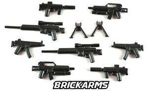 BrickArms - Black Modern Combat Weapons Pack[21PCS]