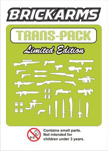 BrickArms - Trans Green Weapons Pack[34PCS]