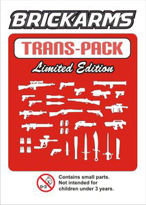 BrickArms - Trans Red Weapons Pack[34PCS]