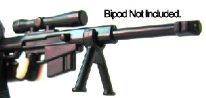 BrickArms - BLACK - High Caliber Sniper Rifle Weapon LOOSE