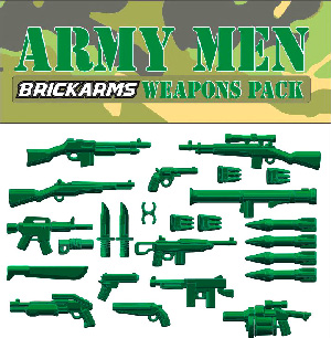 BrickArms - Army Men Weapons Pack[25PCS]