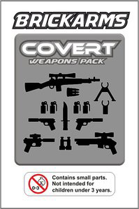BrickArms - Covert Black Weapons Pack