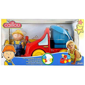 Caillou Wind-Up Truck - Red