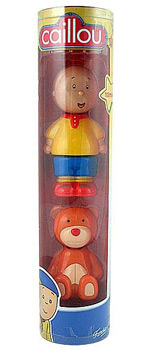 Caillou Collectible Figures - Caillou and Teddy