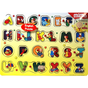 CAILLOU WOOD PUZZLE ENGLISH ALPHABET
