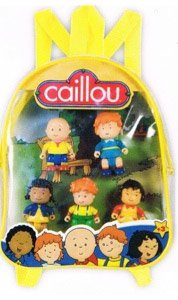 Caillou and Friends Back Pack 5 FIGURE Set