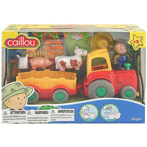 CAILLOU FARMER WITH Pull-Back TRACTOR and Animals