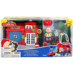 CAILLOU One Day with the Fire Brigade Playset