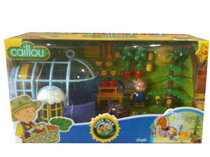 CAILLOU Green Team Playset