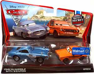 Cars 2 Movie - 2-Pack - Finn McMissile with Weapon and Grem