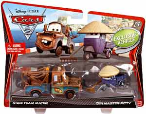 Cars 2 Movie - 2-Pack - Race Team Mater and Zen Master Pitty