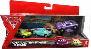 Cars 2 Movie - Character Stars 3-Pack - A. Trunkov, Acer, Holley Shiftwell with Wings