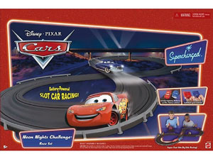 DISNEY PIXAR CARS SUPERCHARGED - NEON NIGHTS CHALLENGE RACE SET