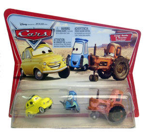 Cars The Movie Original Die-Cast: Luigi, Guido, Tractor