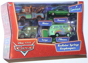 Cars The Movie Supercharged Die-Cast: Shopkeepers