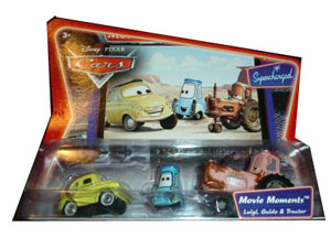 Cars The Movie Die-Cast: Supercharged Luigi, Guido, Tractor