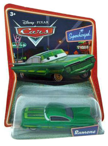 Cars The Movie Die-Cast: Supercharged Green Ramone