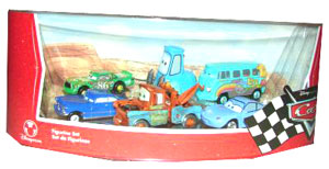 Cars The Movie Disney Store: Sally, Mater, Guido, Fillmore, Doc Hudson, Chick Hicks