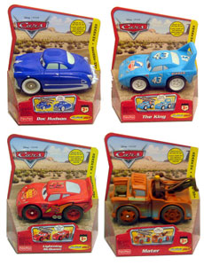 Cars The Movie - Shake N Go Set of 4