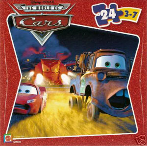 Cars The Movie Puzzle - McQueen, Mater, Tractors