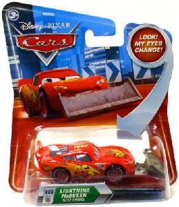 Cars Lenticular Eyes 2 - Lightning McQueen With Shovel