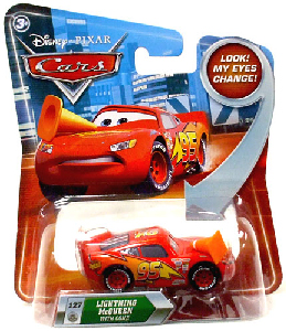 Cars Lenticular Eyes 2 - Lightning McQueen with Cone
