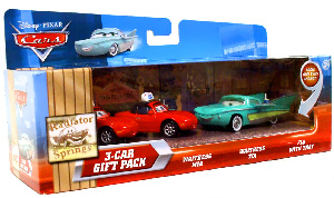 Disney Cars Lenticular - 3-Car Gift Pack - Waitress Mia, Waitress Tia, Flo