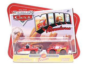 Cars Mini Adventures - Lightning McQueen Team - Hudson Hornet and Lightning McQueen