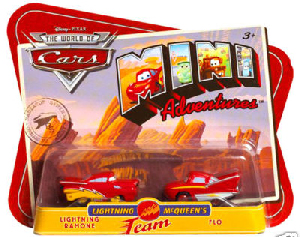 Cars Mini Adventures - Team Lightning - Lightning Ramone and Flo