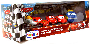 Piston Cup Race Day - Ron Hover, Lightning McQueen, Mia and Tia, Race Tow Truck Tom