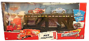 Race-O-Rama Mack Transporter with Radiator Spring McQueen and Sally
