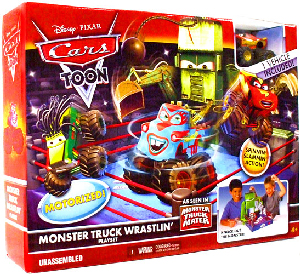 Cars Toon - Monster Truck Wrastlin Playset