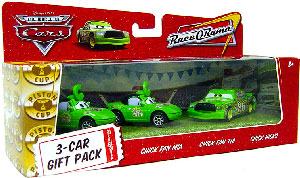 World Of Cars - 3-Car Gift Pack Boxed - Chick Fan Mia, Chick Fan Tia, Chick Hicks