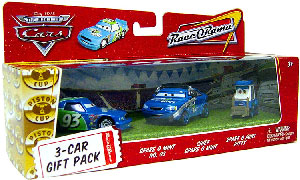World Of Cars - 3-Car Gift Pack Boxed - Spare O Mint, Spare O Mint Crew Chief, Spare O Mint Pitty