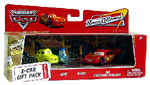 World Of Cars - 3-Car Gift Pack Boxed - Luigi, Guido, Tar Lightning McQueen
