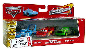 World Of Cars - 3-Car Gift Pack Boxed - King, Finish Line Lightning McQueen, Chick Hicks
