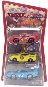 Piston Cup Gift Pack - Lightning McQueen, Charlie Checker, and The King