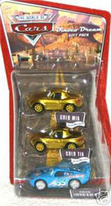 Dinoco Dream Gift Pack - Gold Tia and Mia with Bling Bling McQueen