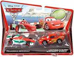 Cars 2 Movie - 2-Pack - Francesco Bernoulli and Lightning McQueen with Party Wheels
