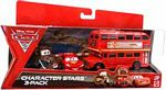 Cars 2 Movie - Character Stars 3-Pack - Double Decker Bus, Race Team Mater, Lightning McQueen Racing Wheels